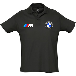 polo-homme-BMW-M-Noir-s-2xl-sport-chic-M3-M4-M5-Z3-Z4-X1-X3-X5-X6-racing