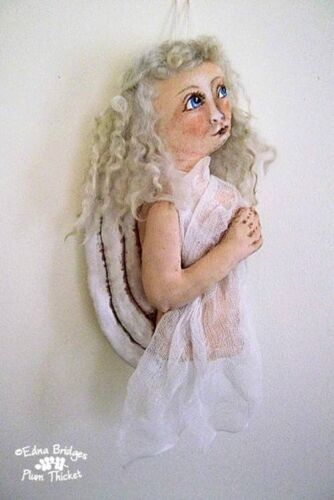 "*NEW* ""CLOTH FOLK ART DOLL PATTERN  ""ANGELIC ANGEL ORNAMENT"" BY EDNA BRIDGES"