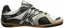 Kelme Star 360 Michelin Mens Leather Indoor Soccer Shoes White / Black