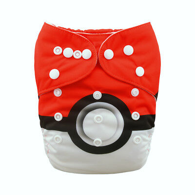 Alvababy One Size Cover Cloth Diaper Washable Reusable Nappy+1Insert For Boys