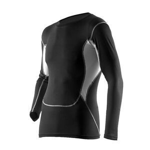 Kompressions-Sportshirt-Langarm-Funktionswaesche-Profi-CoolMax-Material-S-XL