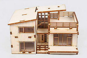 Image Is Loading Modern Style House Wooden Model Kit Ho 3d