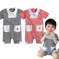 "NWT Vaenait Newborn Infant One-Piece Bodysuit babygrow playsuit "" Melon Stripe"""