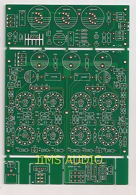 EL84 PP power stereo amplifier w/loudness & level indication PCB board set !