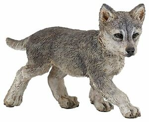GREY-WOLF-CUB-Replica-50162-FREE-SHIP-USA-w-25-Papo-Products