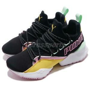Details about Puma Muse Maia TZ Wns Black Yellow Pink Women Running Shoes  Sneakers 369343-01