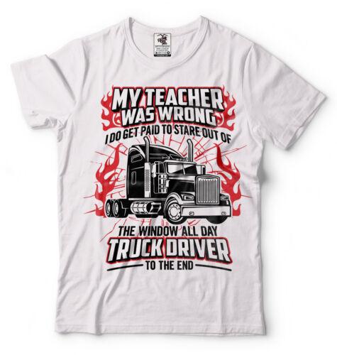 Truck Driver T-shirt Funny Trucker Tee Shirt Truck Tee Shirt Funny Birthday Gift