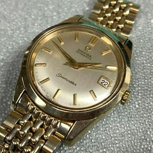 OMEGA SEAMASTER VINTAGE CAL 562 AUTOMATIC 34.4mm GOLD FILLED SEAHORSE MENS WATCH