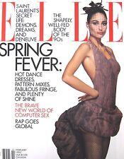 ELLE February 1992 Brenda Schad Model Yves Saint Laurent Ines de la Fressange