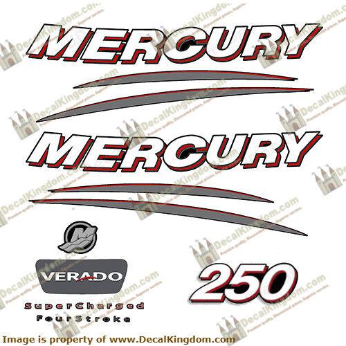 Mercury Verado Outboard Engine Decals Multiple HP 3M Marine Grade