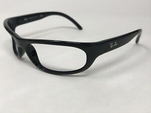 RAY-BAN-RB4033-601-Sunglasses-Frame-Italy-Mens-Black-Polished-Wrap-XL54