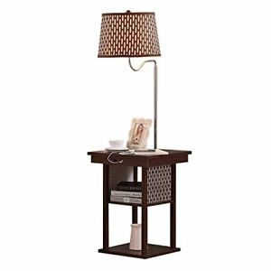 Details About Brightech Madison Led Floor Lamp Swing Arm W Shade Built In End Table