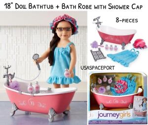 18 Doll Bubble Time Claw Foot Bath Tub Spa Robe For Journey