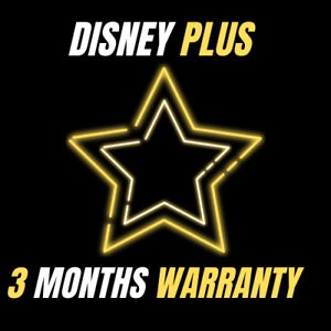 Disney-plus-3-months-warranty-4K-fast-delivery