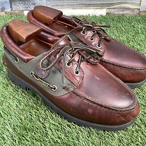 UK6-5-Timberland-Gore-tex-Leather-Vibram-Sole-Boat-Deck-Shoes-EU40-5