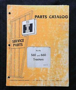 1958-63 INTERNATIONAL HARVESTER 560 & 660 FARMALL TRACTOR PARTS CATALOG MANUAL