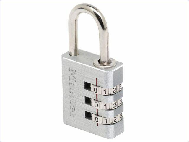 Master Lock - Candado de combinación de aluminio de 30 mm y 3 dígitos