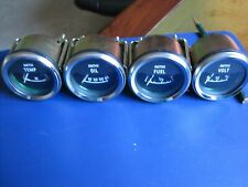 Auto Gauge Set Oil Water Fuel Amp Volt New Amp Completely Un Used 12 Volt