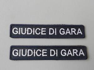 N 2 TOPPE GIUDICE DI GARA RICAMATA TERMOADESIVA CM 9X1,6