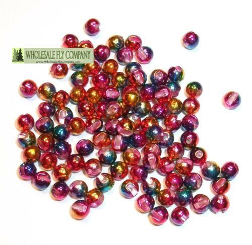 Pick Size /& Color 100 Slotted Tungsten Fly Tying Beads