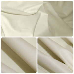 Image Is Loading Cotton Sateen Light Cream Curtain Lining Fabric 2