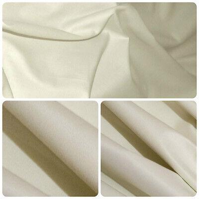 Leuk 5 Metres Cotton Sateen Light Cream Curtain Lining Fabric £9.99 Esthetisch Uiterlijk