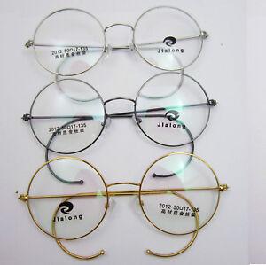 4ab48bb64fe 50mm Size Antique Vintage Round Gold Silver Wire Rim Eyeglass Frames ...