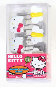 Image Is Loading Sanrio Hello Kitty Shower Curtain Hooks Set Of