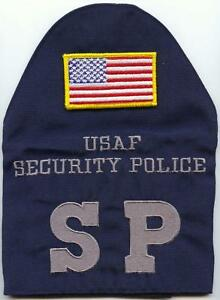 NEW-GI-US-Military-Air-Force-Security-Police-Brassard-W-Hook-and-Loop-US-Flag