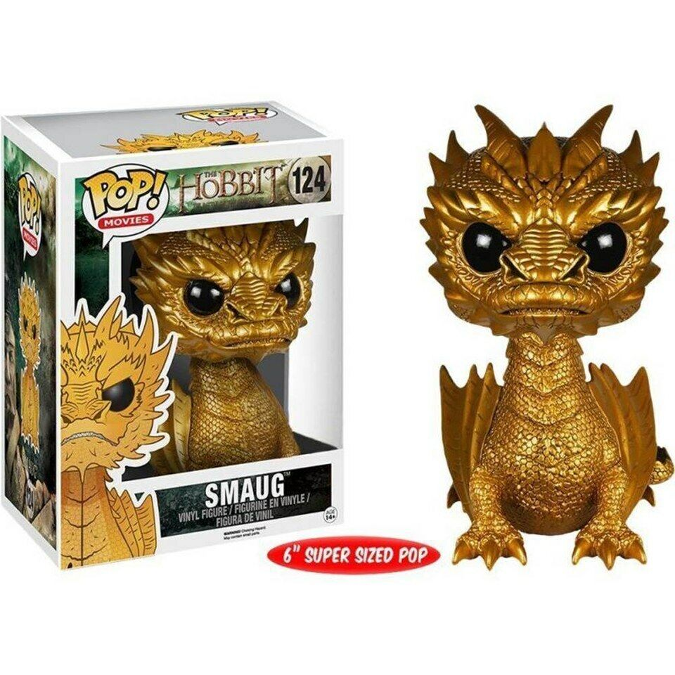 Smaug Gold Exclusive Hot Topic The Hobbit Dragon POP  Movies  124 Figur Funko