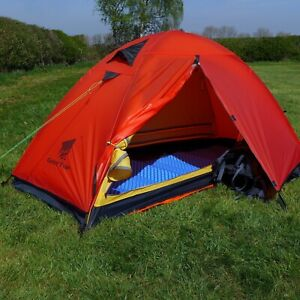 pretty nice f9294 2c87d Details about 1 Person Tent - Lightweight Backpacking Tent, GeerTop Tent -  RED - Just 1.85kgs