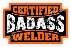 Decal WELDER Helmet Sticker Funny Label Motorcycle Hard Hat Welding Mig Tig