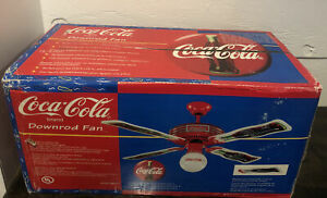 Coca-Cola Ceiling Fan S0314 Factory Sealed New Never Opened! 1997 Coke Free Ship