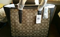 Coach Stunning Crosby Carryall Monogram Brown Leather Tote Rrp £369