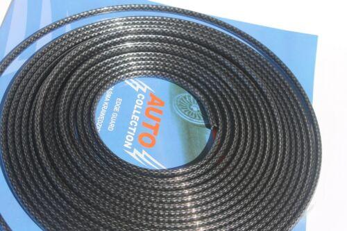 1m Schwarz Silber Türkantenschutz U-profile Türkante-Schutz Pkw Kfz Kohlenstoff