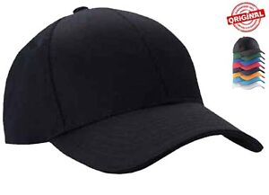 Mens-Classic-Plain-Adjustable-Baseball-Caps-By-MIG-WORK-CASUAL-SPORTS-LEISURE