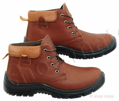 NEW MENS LADIES LIGHTWEIGHT STEEL TOE CAP ANKLE WORK SAFETY BOOTS SHOES TRAINERS