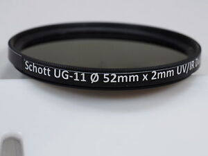 Details about Schott UG-11 52mm UV-IR dual bandpass filter for Ultraviolet  UV photography