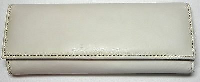 Libelle of New York Ivory Swirl Vortex Fountain Pen With Nice Leather Pen Case
