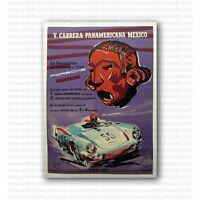 V Porsche Carrera Panamericana 1954 Racing Vintage Repro Poster