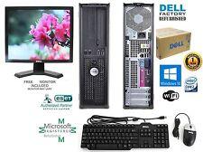 Dell OptiPlex 780 PC COMPUTER DESKTOP 750GB HD Intel 4GB RAM WINDOWS 10 HP 64