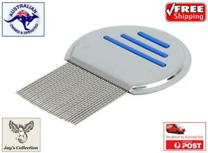 Hair-Lice-Nit-Comb-Head-Lice-Flea-Detection-Stainless-Steel-Kids-Pets-A9B-B41