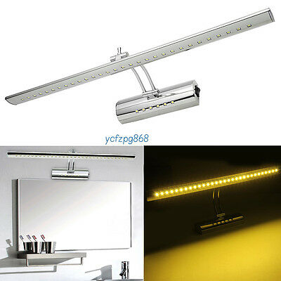 ROTATING 5050 LED 7W WALL MIRROR BATHROOM CUPBOARD MAKE UP FRONT LIGHTING LIGHT