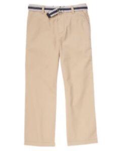 NWT Boy/'s Gymboree brown adjustable pants ~ 4 slim 5 slim 6 8 slim 10 slim