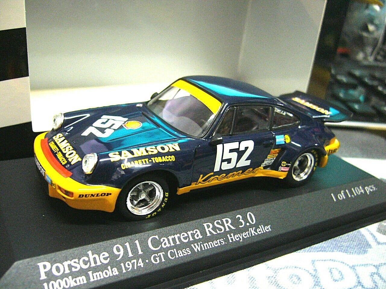 PORSCHE 911 Carrera RSR 3.0 DRM Samson Kremer Heyer  152 1974  Minichamps 1 43  | Ab dem neuesten Modell