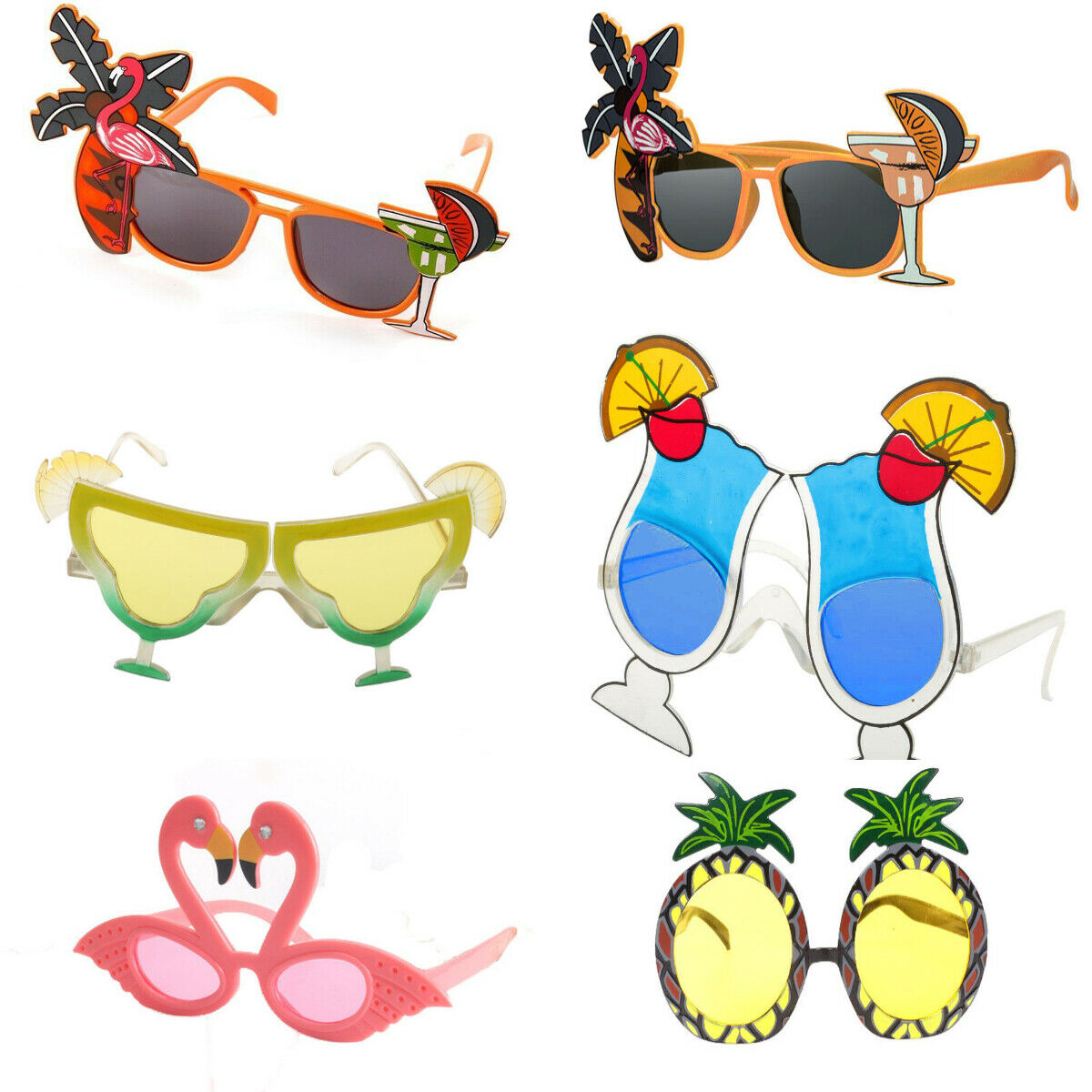 Pineapple Hawaiian Novelty Beach Sun Glasses Hen Stag Tropical Party Fancy Dress