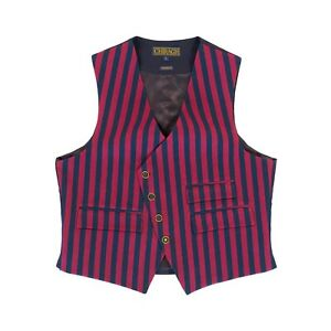 ralph lauren style men burgundy stripe casual dress vest