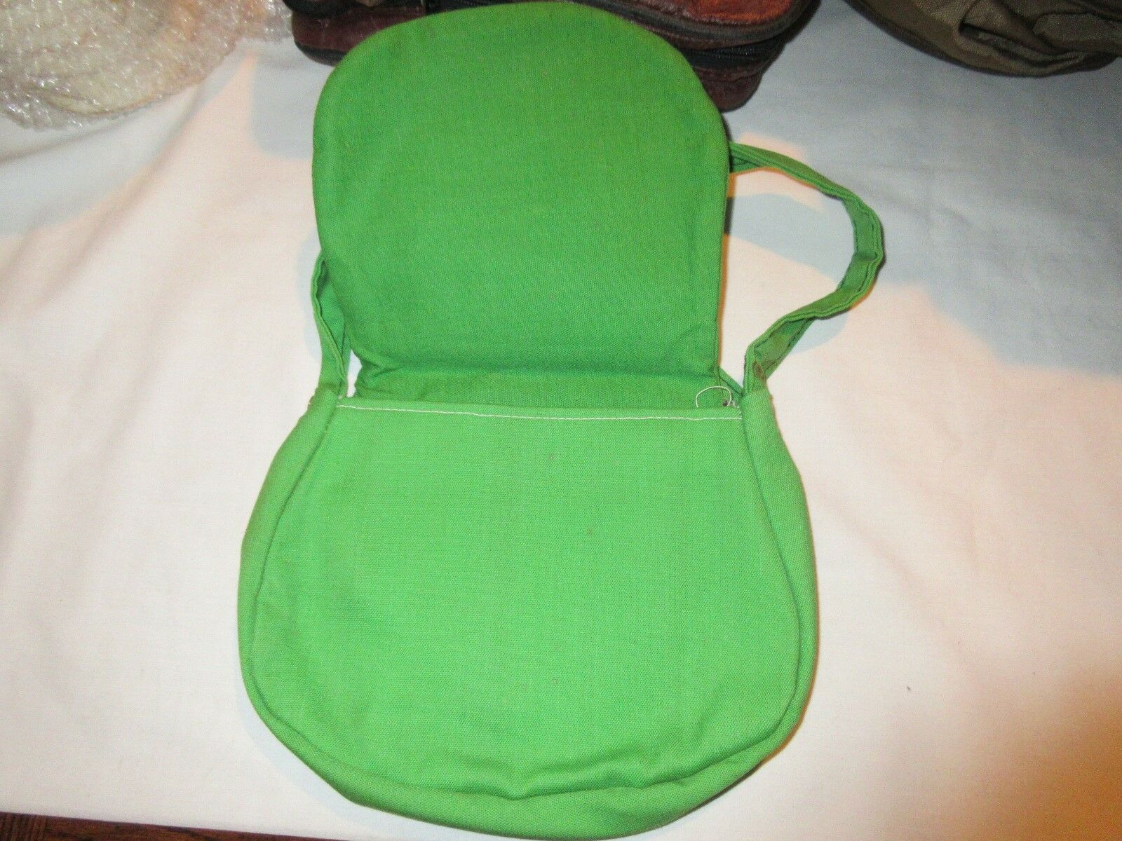 Purse,Girl's, Young Girl's, Green Purse With Strap , Vi