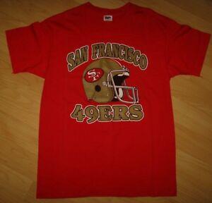 Détails sur San Francisco 49ers Vintage T Shirt 600ms Trench Equipe de Football Casque M