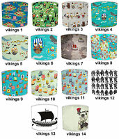 Childrens Vikings Table Lamp Shades Or Ceiling Light Shades Lampshades Pendants